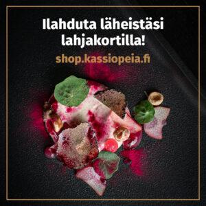 Ravintola Frejan ystävänpäiväbrunssin voi antaa myös lahjaksi ja sen voi ostaa lahjakorttikaupasta.