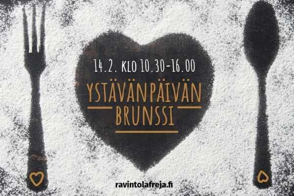 Ravintola FRejassa tarjolla ystävänpäiväbrunssi 14.2.2021 Espoon Matinkylässä.