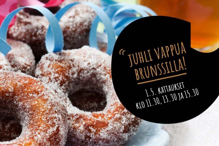 Ravintola Frejassa tarjoillaan vappubrunssia 1.5.2021.