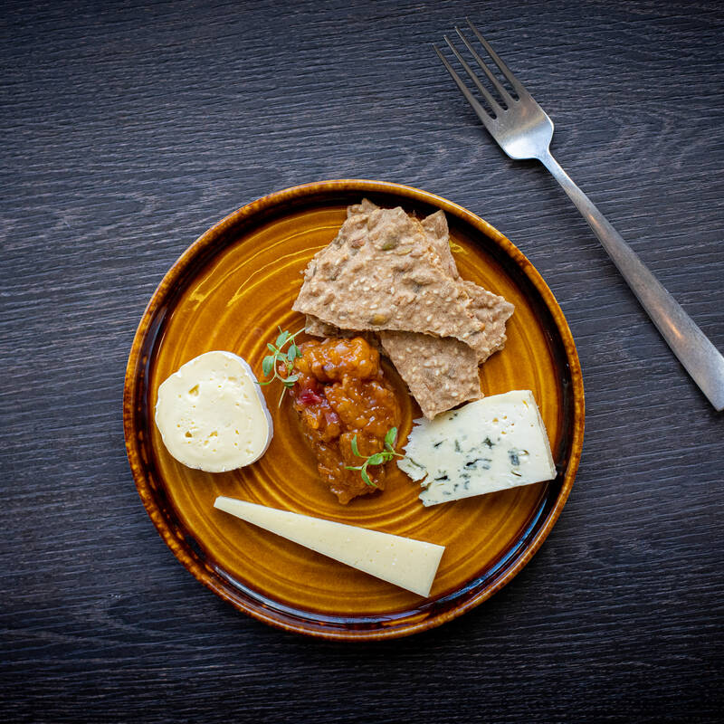 Annoskuva juustoista neljän ruokalajin menussa ravintola Frejassa